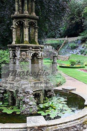Pond in the Plantation Garden, Norwich, Norfolk, England, United Kingdom, Europe