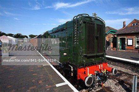 Classe 08 D3940 Locomotive sur la ligne du pavot, North Norfolk Railway, à Sheringham, Norfolk, Angleterre, Royaume-Uni, Europe