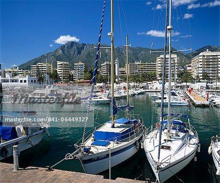 Voir toute la marina, Marbella, Andalousie, Costa del Sol, Espagne, Europe