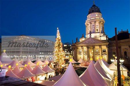 Christmas market, Gendarmenmarkt, Berlin, Allemagne, Europe