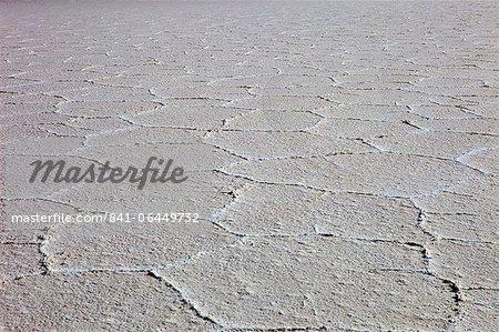 Details of the salt deposits in the Salar de Uyuni salt flat, southwestern Bolivia, Bolivia, South America