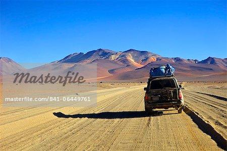 A 4x4 on the Southwest Circuit Tour, Rio Blanco, Bolivia, South America