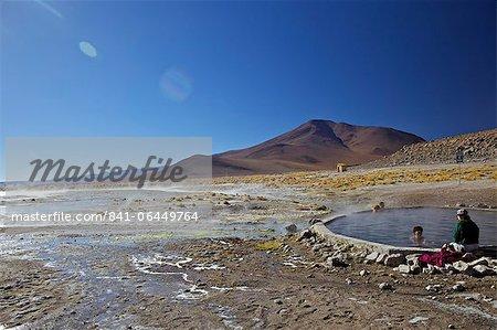 Hot springs and mud pools, Aguas Calientes, Southwest Highlands, Bolivia, South America