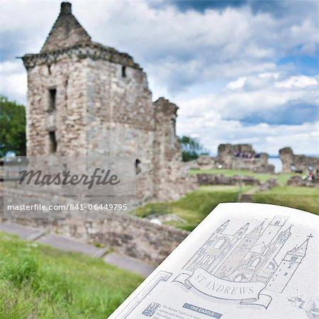 St. Andrews Castle, St. Andrews, Fife, Scotland, United Kingdom, Europe