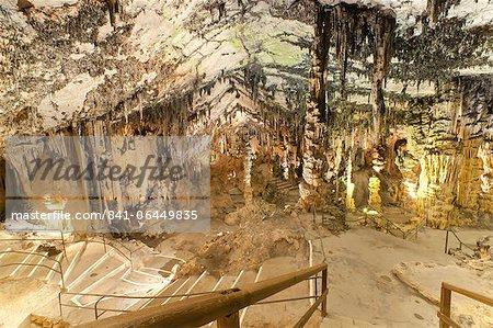 À l'intérieur des grottes d'Arta, Llevant, Majorque, îles Baléares, Espagne, Europe