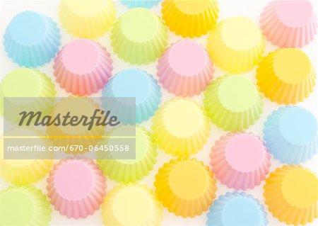 Tasses colorées de silicium