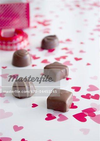 Coeurs et chocolats