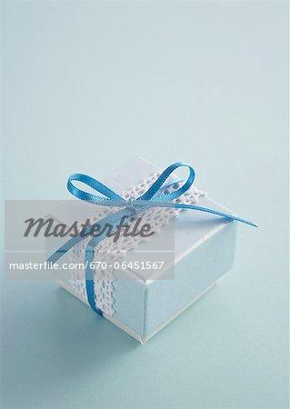 Light blue Geschenk-box