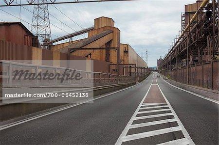Road Through Abandoned Colliery, Charleroi, Wallonia, Belgium