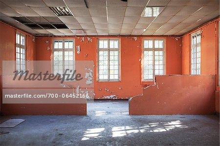 Office in Abanadoned Psychiatric Hospital