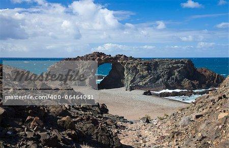 Fuerteventura, Canary Islands, beach playa del jurado by the west coast