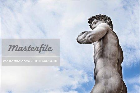 Statue of Michelangelo's David, Piazza della Signoria, Florence, Tuscany, Italy