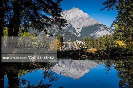 Cascade Mountain and Banff Avenue, Banff, Banff National Park, Alberta, Canada