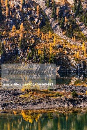 Rock Isle Lake in Autumn, Mount Assiniboine Provincial Park, British Columbia, Canada