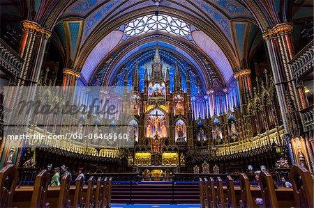 Altar in Notre-Dame Basilica, Montreal, Quebec, Canada