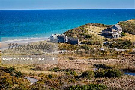 Overview of Beachfront Homes, Cape Cod, Massachusetts, USA