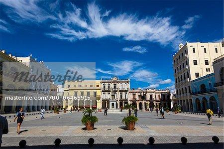 Broad View of Plaza Vieja, Havana, Cuba