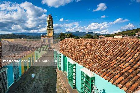 Overview of Rooftops Looking Towards the Museo de la Lucha Contra Bandidos, Trinidad, Cuba
