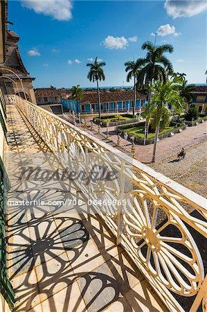 Ornamental Balcony Railing Overlooking Plaza Mayor, Trinidad, Cuba