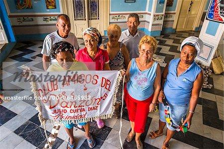 Portrait of Members of Club Amigos Social Dancing Club, Trinidad, Cuba
