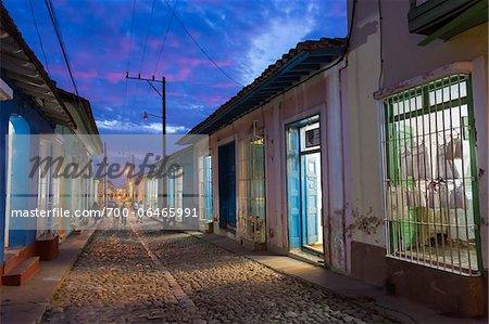 Street Scene at Night, Trinidad, Cuba