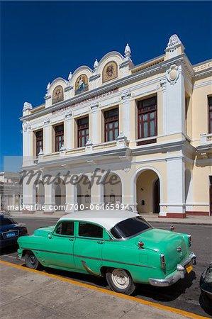 Teatro Tomas Terry and Classic Car, Cienfuegos, Cuba