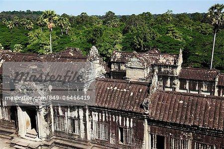 Stone ruins of Angkor Wat, Siem Reap, Cambodia