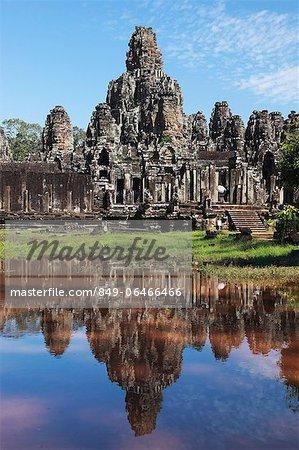 Stone ruins of Bayon Temple, Angkor Wat, Cambodia