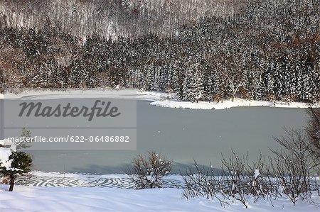 Frozen Hokuryu lake, Nagano Prefecture