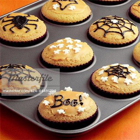Making Halloween Cupcakes - step shot