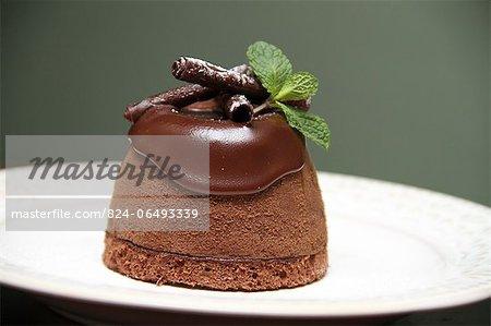 Chocolate truffle covered in chocolate ganache