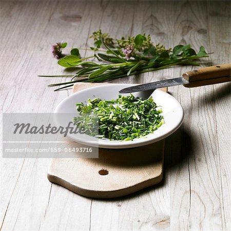 Freshly chopped herbs
