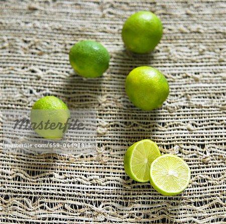 Whole Key Limes; One Halved
