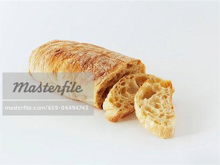 Ciabatta, sliced