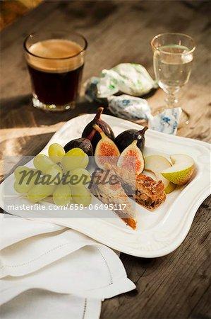 Italian Dessert Plate with Espresso and Sambuca