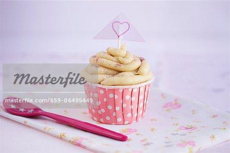 A vegan vanilla cupcake