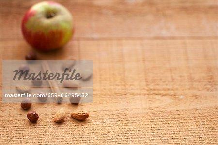 Autumnal baking ingredients