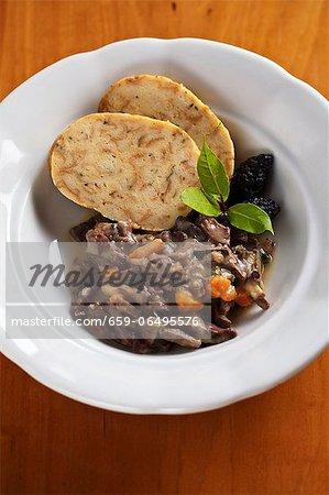 Venison innards with napkin dumplings