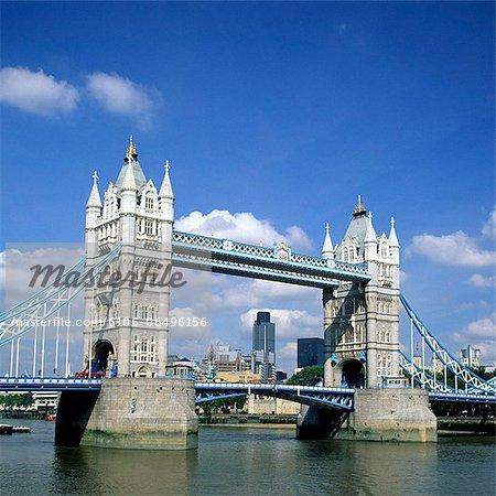 Tower Bridge and Thames River, London - England