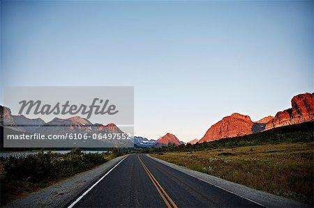 Many Glacier Road in Glacier National Park
