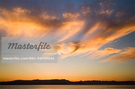 Sunset, Baja Peninsula, Gulf of California (Sea of Cortez), Baja California, Mexico, North America