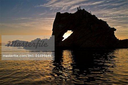 Sunset, Isla Catalina, Gulf of California (Sea of Cortez), Baja California Sur, Mexico, North America