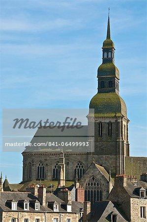 St. Sauveur Basilica, flamboyant gothic, Dinan, Brittany, France, Europe
