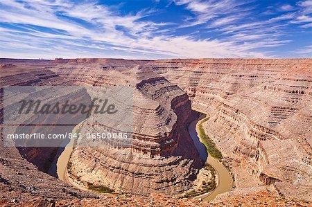 San Juan River, Goosenecks State Park, Utah, United States of America, North America