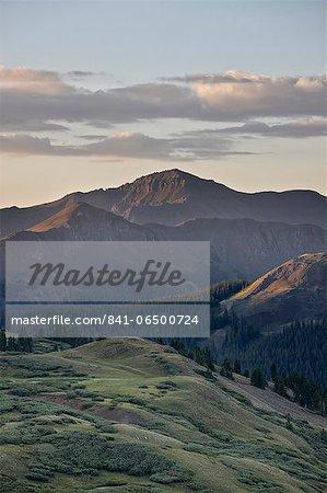 Dawn near Stony Pass, Rio Grande National Forest; Colorado, United States of America, North America