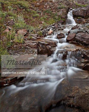 Cascades in Minnie Gulch, San Juan National Forest, Colorado, United States of America, North America