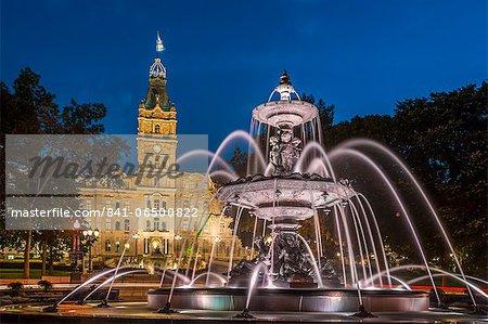Fontaine de Tourny, Quebec City, Province of Quebec, Canada, North America
