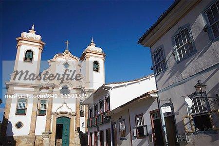 Our Lady of Pilar Church, Ouro Preto, UNESCO World Heritage Site, Minas Gerais, Brazil, South America