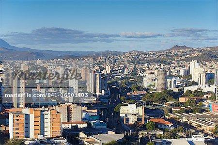 View of city skyline, Belo Horizonte, Minas Gerais, Brazil, South America