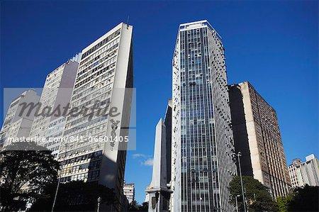Skyscrapers in Praca Sete, Belo Horizonte, Minas Gerais, Brazil, South America